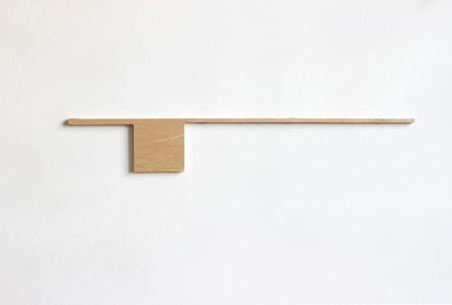 "<div class='artwork-listing'><span class='artwork-listing-artist'><a href=""/users/lael-marshall"">Lael Marshall</a></span>, <span class='artwork-listing-title'><a href=""/portfolio/10396/untitled-lmp201509"">Untitled, LMP2015.09</a></span>, <span class='artwork-listing-year'>2015</span>, <span class='artwork-listing-materials'>found wood</span>, <span class='artwork-listing-dimensions'>3 7/8 x 25 7/8 x 3/4 in.</span></div>"