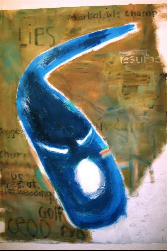 "<div class='artwork-listing'><span class='artwork-listing-artist'><a href=""/users/chuck-hitner"" class=""active"">Chuck Hitner</a></span>, <span class='artwork-listing-title'><a href=""/portfolio/10403/400-mile-lies-2"">400 mile lies 2</a></span>, <span class='artwork-listing-year'>2011</span>, <span class='artwork-listing-materials'>acryl. on fiber window screen</span>, <span class='artwork-listing-dimensions'>5.5 x 4 ft</span></div>"