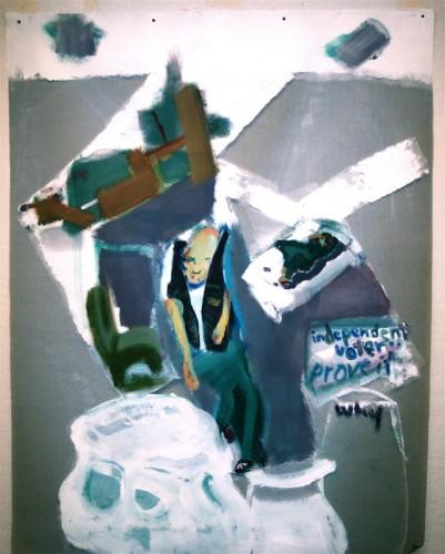 "<div class='artwork-listing'><span class='artwork-listing-artist'><a href=""/users/chuck-hitner"" class=""active"">Chuck Hitner</a></span>, <span class='artwork-listing-title'><a href=""/portfolio/10403/fish-n-barrel-3"">fish n barrel 3</a></span>, <span class='artwork-listing-year'>2014</span>, <span class='artwork-listing-materials'>acryl. on fiber window screen</span>, <span class='artwork-listing-dimensions'>5.5 x 4 ft</span></div>"