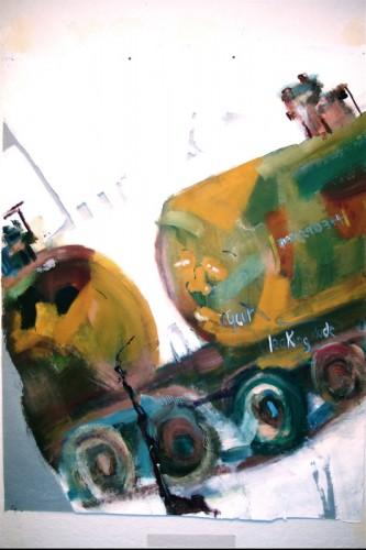 "<div class='artwork-listing'><span class='artwork-listing-artist'><a href=""/users/chuck-hitner"" class=""active"">Chuck Hitner</a></span>, <span class='artwork-listing-title'><a href=""/portfolio/10403/leaks-potholes-1"">leaks potholes 1</a></span>, <span class='artwork-listing-year'>2014</span>, <span class='artwork-listing-materials'>acryl. on fiber window screen</span>, <span class='artwork-listing-dimensions'>5.5 x 4 ft</span></div>"