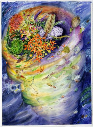 """<div class='artwork-listing'><span class='artwork-listing-artist'><a href=""""/users/pamelacasper"""" class=""""active"""">PamelaCasper</a></span>, <span class='artwork-listing-title'><a href=""""/portfolio/10917/celestial-tornado"""">Celestial Tornado</a></span>, <span class='artwork-listing-year'>2009</span>, <span class='artwork-listing-materials'>Watercolor on Paper</span>, <span class='artwork-listing-dimensions'>30"""" x 22""""</span></div>"""