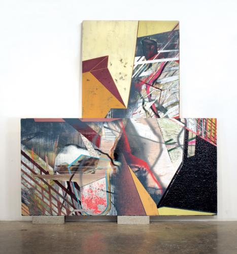 "<div class='artwork-listing'><span class='artwork-listing-artist'><a href=""/users/kristin-cammermeyer"" class=""active"">Kristin Cammermeyer</a></span>, <span class='artwork-listing-title'><a href=""/portfolio/1106/painting-no-1"">Painting No. 1</a></span>, <span class='artwork-listing-year'>2010</span>, <span class='artwork-listing-materials'>acrylic, oil, enamel, spray enamel, paper, staples, foam on plywood mounted on cinderblocks</span>, <span class='artwork-listing-dimensions'>99 1/2"" x 96""</span></div>"