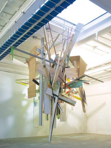 "<div class='artwork-listing'><span class='artwork-listing-artist'><a href=""/users/kristin-cammermeyer"" class=""active"">Kristin Cammermeyer</a></span>, <span class='artwork-listing-title'><a href=""/portfolio/1106/hangar"">Hangar</a></span>, <span class='artwork-listing-year'>2012</span>, <span class='artwork-listing-materials'>mixed media site specific installation</span>, <span class='artwork-listing-dimensions'>144"" x 168"" x 168""</span></div>"