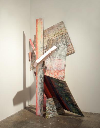"<div class='artwork-listing'><span class='artwork-listing-artist'><a href=""/users/kristin-cammermeyer"" class=""active"">Kristin Cammermeyer</a></span>, <span class='artwork-listing-title'><a href=""/portfolio/1106/cobbled-0"">Cobbled</a></span>, <span class='artwork-listing-year'>2012</span>, <span class='artwork-listing-materials'>wood, foam, metal, spray enamel and acrylic</span>, <span class='artwork-listing-dimensions'>98"" x 70"" x 40""</span></div>"
