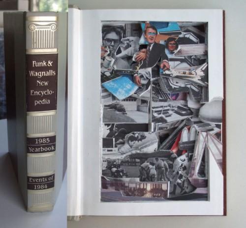 "<div class='artwork-listing'><span class='artwork-listing-artist'><a href=""/users/robert-scobey"" class=""active"">Robert Scobey</a></span>, <span class='artwork-listing-title'><a href=""/portfolio/11090/funk-wagnalls-1985-yearbook"">Funk & Wagnall's 1985 Yearbook</a></span>, <span class='artwork-listing-year'>2010</span>, <span class='artwork-listing-materials'>Excavated Book</span>, <span class='artwork-listing-dimensions'>6.5"" x 9.25"" x 1.25""</span></div>"