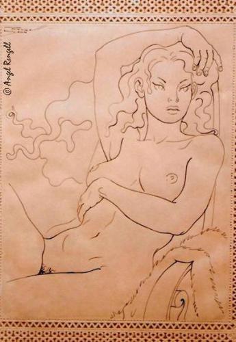 "<div class='artwork-listing'><span class='artwork-listing-artist'><a href=""/users/angel-rengell"" class=""active"">ANGEL RENGELL</a></span>, <span class='artwork-listing-title'><a href=""/portfolio/1115/femme-assise-%C2%A9-angel-rengell-artist-london-uk-0"">FEMME ASSISE .-© Angel Rengell . Artist . London UK</a></span></div>"