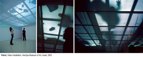 "<div class='artwork-listing'><span class='artwork-listing-artist'><a href=""/users/ofri-cnaani"" class=""active"">Ofri Cnaani</a></span>, <span class='artwork-listing-title'><a href=""/portfolio/11168/patrol"">Patrol</a></span>, <span class='artwork-listing-year'>2003</span>, <span class='artwork-listing-materials'>video installation</span></div>"