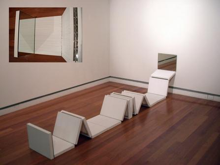 "<div class='artwork-listing'><span class='artwork-listing-artist'><a href=""/users/meredith-frances-lynch"" class=""active"">Meredith Frances Lynch</a></span>, <span class='artwork-listing-title'><a href=""/portfolio/1152/untitled-hinged-painting"">Untitled (Hinged Painting)</a></span>, <span class='artwork-listing-year'>2007</span>, <span class='artwork-listing-materials'>Biro on canvas, mirror on mdf, hinges</span>, <span class='artwork-listing-dimensions'>30 x 45 x 35-550cm (dimesions </span></div>"