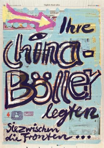 "<div class='artwork-listing'><span class='artwork-listing-artist'><a href=""/users/borai-kahne-ateliers"" class=""active"">Borai - Kahne Ateliers</a></span>, <span class='artwork-listing-title'><a href=""/portfolio/12024/das-%C3%BCberholman%C3%B6ver-des-terroristen-%E2%80%A2-04-%E2%80%A2-12aug"">Das Überholmanöver des Terroristen • 04 • 12.Aug</a></span>, <span class='artwork-listing-materials'>Acrylic on newspaper</span>, <span class='artwork-listing-dimensions'>15.75""x 22.44""</span></div>"