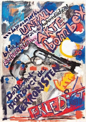 """<div class='artwork-listing'><span class='artwork-listing-artist'><a href=""""/users/borai-kahne-ateliers"""" class=""""active"""">Borai - Kahne Ateliers</a></span>, <span class='artwork-listing-title'><a href=""""/portfolio/12024/das-%C3%BCberholman%C3%B6ver-des-terroristen-%E2%80%A2-20-%E2%80%A2-15aug"""">Das Überholmanöver des Terroristen • 20 • 15.Aug.</a></span>, <span class='artwork-listing-year'>2001</span>, <span class='artwork-listing-materials'>Acrylic on newspaper</span>, <span class='artwork-listing-dimensions'>15.75""""x 22.44""""</span></div>"""