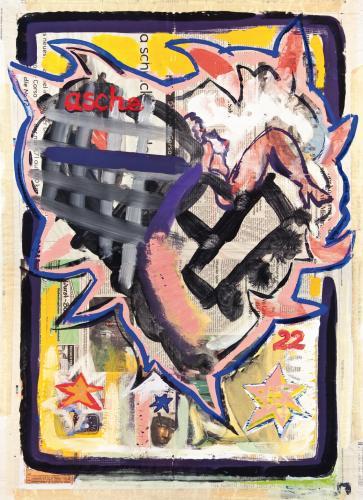"""<div class='artwork-listing'><span class='artwork-listing-artist'><a href=""""/users/borai-kahne-ateliers"""" class=""""active"""">Borai - Kahne Ateliers</a></span>, <span class='artwork-listing-title'><a href=""""/portfolio/12024/das-%C3%BCberholman%C3%B6ver-des-terroristen-%E2%80%A2-22-%E2%80%A2-15aug"""">Das Überholmanöver des Terroristen • 22 • 15.Aug</a></span>, <span class='artwork-listing-year'>2001</span>, <span class='artwork-listing-materials'>Acrylic on newspaper</span>, <span class='artwork-listing-dimensions'>15.75""""x 22.44""""</span></div>"""