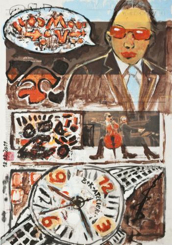 "<div class='artwork-listing'><span class='artwork-listing-artist'><a href=""/users/borai-kahne-ateliers"" class=""active"">Borai - Kahne Ateliers</a></span>, <span class='artwork-listing-title'><a href=""/portfolio/12024/comic-watch"">Comic Watch</a></span>, <span class='artwork-listing-year'>2012</span>, <span class='artwork-listing-materials'>Acrylic on newspaper</span>, <span class='artwork-listing-dimensions'>22.36"" x 15.67""</span></div>"