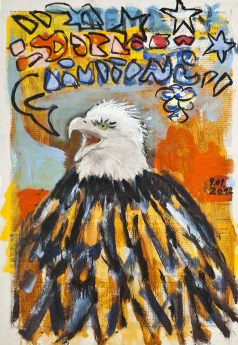 "<div class='artwork-listing'><span class='artwork-listing-artist'><a href=""/users/borai-kahne-ateliers"" class=""active"">Borai - Kahne Ateliers</a></span>, <span class='artwork-listing-title'><a href=""/portfolio/12024/eagle"">Eagle</a></span>, <span class='artwork-listing-year'>2012</span>, <span class='artwork-listing-materials'>Acrylic on newspaper</span>, <span class='artwork-listing-dimensions'>22.36"" x 15.67""</span></div>"