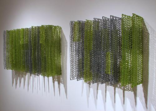 "<div class='artwork-listing'><span class='artwork-listing-artist'><a href=""/users/yvette-kaiser-smith"" class=""active"">Yvette Kaiser Smith</a></span>, <span class='artwork-listing-title'><a href=""/portfolio/12117/panel%C3%A1k-pi-gg11-panel%C3%A1k-pi-gg7-side-view"">Panelák from pi: GG11 / Panelák from pi: GG7 (side view)</a></span>, <span class='artwork-listing-year'>2010</span>, <span class='artwork-listing-materials'>Crocheted fiberglass with polyester resin.</span>, <span class='artwork-listing-dimensions'>23"" x 40"" x 9"" / 23"" x 25"" x 9</span></div>"