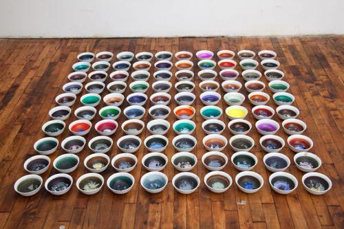 "<div class='artwork-listing'><span class='artwork-listing-artist'><a href=""/users/stephen-truax"" class=""active"">Stephen Truax</a></span>, <span class='artwork-listing-title'><a href=""/portfolio/12320/artists-bowls"">The Artist's Bowls</a></span>, <span class='artwork-listing-year'>2010</span>, <span class='artwork-listing-materials'>Gouache, 100 bowls</span>, <span class='artwork-listing-dimensions'>5 ft x 5 ft x 5 in</span></div>"