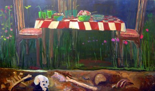 "<div class='artwork-listing'><span class='artwork-listing-artist'><a href=""/users/fariha-nasir-hassaan"" class=""active"">Fariha Nasir Hassaan</a></span>, <span class='artwork-listing-title'><a href=""/portfolio/12536/xs-post-funeral-party"">X's Post Funeral Party</a></span>, <span class='artwork-listing-year'>2011</span>, <span class='artwork-listing-materials'>Oil on canvas</span>, <span class='artwork-listing-dimensions'>54""x96""</span></div>"
