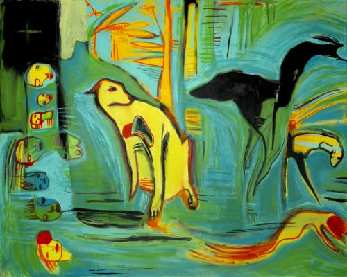 "<div class='artwork-listing'><span class='artwork-listing-artist'><a href=""/users/janet-mathias"" class=""active"">Janet Mathias</a></span>, <span class='artwork-listing-title'><a href=""/portfolio/12557/tropical-dog"">Tropical Dog</a></span>, <span class='artwork-listing-year'>2010</span>, <span class='artwork-listing-materials'>acrylic and ink on canvas</span>, <span class='artwork-listing-dimensions'>48"" x 60""</span></div>"