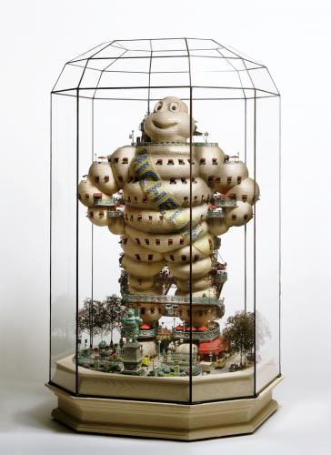 "<div class='artwork-listing'><span class='artwork-listing-artist'><a href=""/users/takanori-aiba"" class=""active"">Takanori Aiba</a></span>, <span class='artwork-listing-title'><a href=""/portfolio/12587/h%C3%B4tel-de-michelin"">Hôtel de Michelin</a></span>, <span class='artwork-listing-year'>2006</span>, <span class='artwork-listing-materials'>stone clay with mixed media, glass</span>, <span class='artwork-listing-dimensions'>19.6""x19.6""x34.2""</span></div>"