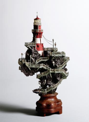 "<div class='artwork-listing'><span class='artwork-listing-artist'><a href=""/users/takanori-aiba"" class=""active"">Takanori Aiba</a></span>, <span class='artwork-listing-title'><a href=""/portfolio/12587/lighthouse-0"">The Lighthouse-A</a></span>, <span class='artwork-listing-year'>2008</span>, <span class='artwork-listing-materials'>Chinese Suiseki with Mixed Media</span>, <span class='artwork-listing-dimensions'>φ:7.0""x11.0""</span></div>"