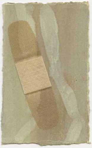 "<div class='artwork-listing'><span class='artwork-listing-artist'><a href=""/users/kristen-rego"" class=""active"">Kristen Rego</a></span>, <span class='artwork-listing-title'><a href=""/portfolio/12602/minor-cut"">Minor Cut</a></span>, <span class='artwork-listing-year'>2010</span>, <span class='artwork-listing-materials'>Oil and bandage on shellacked paper</span>, <span class='artwork-listing-dimensions'>5"" x 2.5"" </span></div>"