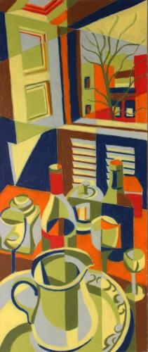 "<div class='artwork-listing'><span class='artwork-listing-artist'><a href=""/users/joseph-burchfield"" class=""active"">Joseph Burchfield</a></span>, <span class='artwork-listing-title'><a href=""/portfolio/12674/window-table"">Window & Table</a></span>, <span class='artwork-listing-year'>2014</span>, <span class='artwork-listing-materials'>Crayon on museum board</span>, <span class='artwork-listing-dimensions'>28"" x 18""</span></div>"