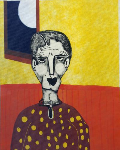 "<div class='artwork-listing'><span class='artwork-listing-artist'><a href=""/users/cherie-m-redlinger"" class=""active"">Cherie M. Redlinger</a></span>, <span class='artwork-listing-title'><a href=""/portfolio/13699/here-comes-silvery-moon"">Here Comes The Silvery Moon</a></span>, <span class='artwork-listing-year'>2012</span>, <span class='artwork-listing-materials'>Oil based Ink on Paper</span>, <span class='artwork-listing-dimensions'>24""x18""</span></div>"