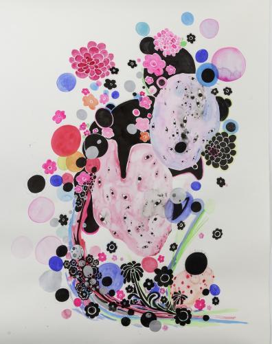 "<div class='artwork-listing'><span class='artwork-listing-artist'><a href=""/users/nina-bovasso"" class=""active"">Nina Bovasso</a></span>, <span class='artwork-listing-title'><a href=""/portfolio/13753/geisha"">Geisha</a></span>, <span class='artwork-listing-year'>2012</span>, <span class='artwork-listing-materials'>acrylic, watercolor, gouache and ink on paper</span>, <span class='artwork-listing-dimensions'>51 x 60 inches</span></div>"