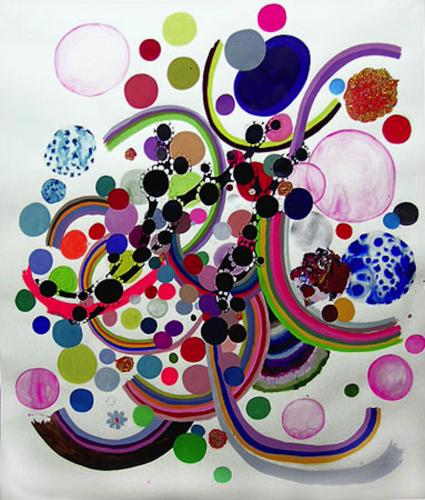 "<div class='artwork-listing'><span class='artwork-listing-artist'><a href=""/users/nina-bovasso"" class=""active"">Nina Bovasso</a></span>, <span class='artwork-listing-title'><a href=""/portfolio/13753/rainbow-ribbon-w-lichen-patch"">rainbow ribbon w/ lichen patch</a></span>, <span class='artwork-listing-year'>2005</span>, <span class='artwork-listing-materials'>acrylic, watercolor, gouache and ink on paper</span>, <span class='artwork-listing-dimensions'>80 x 86 inches</span></div>"
