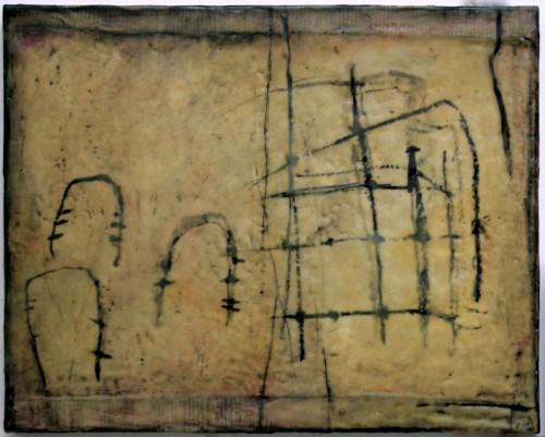 "<div class='artwork-listing'><span class='artwork-listing-artist'><a href=""/users/gwendolyn-plunkett"" class=""active"">Gwendolyn Plunkett</a></span>, <span class='artwork-listing-title'><a href=""/portfolio/14539/linear-a1"">Linear A/1</a></span>, <span class='artwork-listing-year'>2012</span>, <span class='artwork-listing-materials'>Ink, Lokta paper, old book pages, oil bar, encaustic medium</span>, <span class='artwork-listing-dimensions'>16 x 20 inches</span></div>"