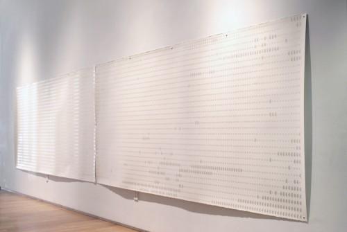 "<div class='artwork-listing'><span class='artwork-listing-artist'><a href=""/users/marietta-hoferer"" class=""active"">Marietta Hoferer</a></span>, <span class='artwork-listing-title'><a href=""/portfolio/14925/zzzz"">ZZZZ</a></span>, <span class='artwork-listing-year'>2013</span>, <span class='artwork-listing-materials'>strapping tape and pencil on paper</span>, <span class='artwork-listing-dimensions'>60 x 248 inches</span></div>"