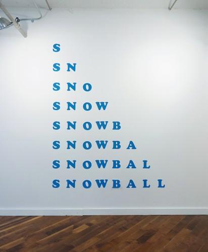 "<div class='artwork-listing'><span class='artwork-listing-artist'><a href=""/users/celeste-fichter"" class=""active"">Celeste Fichter</a></span>, <span class='artwork-listing-title'><a href=""/portfolio/15183/snowball"">Snowball</a></span>, <span class='artwork-listing-year'>2016</span>, <span class='artwork-listing-materials'>vinyl</span>, <span class='artwork-listing-dimensions'>dimensions vary</span></div>"