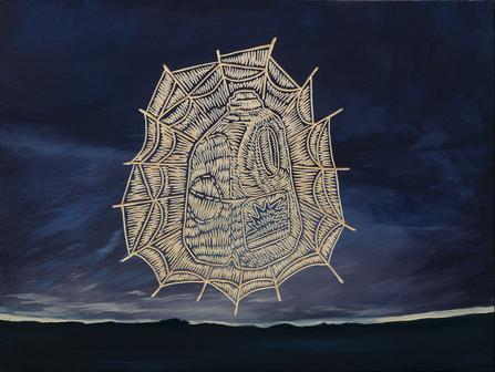 "<div class='artwork-listing'><span class='artwork-listing-artist'><a href=""/user/0""></a></span>, <span class='artwork-listing-title'><a href=""/portfolio/1731/aqua-es-mi-vida"">Aqua es mi Vida</a></span>, <span class='artwork-listing-year'>2008</span>, <span class='artwork-listing-materials'>acrylic and oil on carved birch plywood</span></div>"