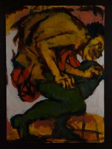 "<div class='artwork-listing'><span class='artwork-listing-artist'><a href=""/users/steve-engle"" class=""active"">Steve Engle</a></span>, <span class='artwork-listing-title'><a href=""/portfolio/3166/ecstatic-crouching-man"">Ecstatic Crouching Man</a></span>, <span class='artwork-listing-year'>2014</span>, <span class='artwork-listing-materials'>Acrylic on paper</span>, <span class='artwork-listing-dimensions'>41""h. x 29.5""w.</span></div>"