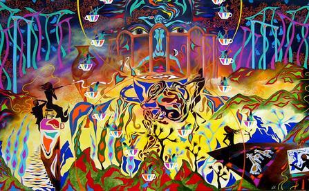 "<div class='artwork-listing'><span class='artwork-listing-artist'><a href=""/users/raymond-pilarczyk"" class=""active"">Raymond Pilarczyk</a></span>, <span class='artwork-listing-title'><a href=""/portfolio/3514/backside-caffinated-dream"">""The Backside of a Caffinated Dream""</a></span>, <span class='artwork-listing-year'>2007</span>, <span class='artwork-listing-materials'>acrylic on canvas</span>, <span class='artwork-listing-dimensions'>6' by 9' ft.</span></div>"
