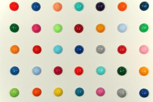 "<div class='artwork-listing'><span class='artwork-listing-artist'><a href=""/users/mia-yoon"" class=""active"">Mia Yoon</a></span>, <span class='artwork-listing-title'><a href=""/portfolio/4968/candiesque-installation-detailed-view"">""Candiesque"" Installation (detailed view)</a></span>, <span class='artwork-listing-year'>2012</span>, <span class='artwork-listing-materials'>Mixed Media</span>, <span class='artwork-listing-dimensions'>Each ball is 3""</span></div>"