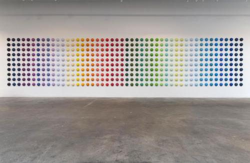 "<div class='artwork-listing'><span class='artwork-listing-artist'><a href=""/users/mia-yoon"" class=""active"">Mia Yoon</a></span>, <span class='artwork-listing-title'><a href=""/portfolio/4968/spectrum-ii-installation"">""Spectrum II"" Installation</a></span>, <span class='artwork-listing-year'>2011</span>, <span class='artwork-listing-materials'>Mixed Media</span>, <span class='artwork-listing-dimensions'>8' x 40' (each ball is 6"")</span></div>"
