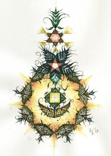 "<div class='artwork-listing'><span class='artwork-listing-artist'><a href=""/users/karl-lorenzen"" class=""active"">Karl Lorenzen</a></span>, <span class='artwork-listing-title'><a href=""/portfolio/5259/pineapple-filigree-art-sacred-geometry"">Pineapple Filigree (The Art of Sacred Geometry)</a></span>, <span class='artwork-listing-year'>2013</span>, <span class='artwork-listing-materials'>Watercolor and graphite</span>, <span class='artwork-listing-dimensions'>9"" x 12""</span></div>"