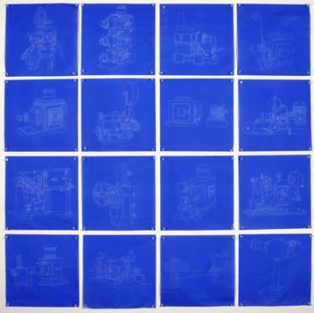 "<div class='artwork-listing'><span class='artwork-listing-artist'><a href=""/users/genevieve-quick"">Genevieve Quick</a></span>, <span class='artwork-listing-title'><a href=""/portfolio/5884/ditto-series"">Ditto Series</a></span>, <span class='artwork-listing-year'>2008</span>, <span class='artwork-listing-materials'>Blue Transfer Paper</span>, <span class='artwork-listing-dimensions'>49.5"" x 49.5""</span></div>"