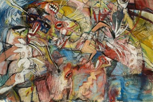 "<div class='artwork-listing'><span class='artwork-listing-artist'><a href=""/users/alaine-becker"" class=""active"">Alaine Becker</a></span>, <span class='artwork-listing-title'><a href=""/portfolio/6479/circular-consciousness-leading-altered-sleep"">Circular Consciousness Leading To Altered Sleep</a></span>, <span class='artwork-listing-year'>2007</span>, <span class='artwork-listing-materials'>pastel, white oil pastel on paper</span>, <span class='artwork-listing-dimensions'>40x60</span></div>"