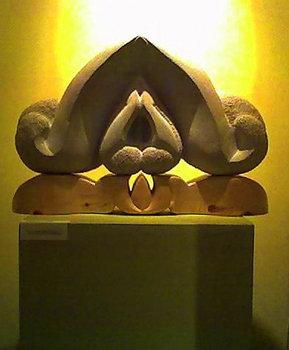 "<div class='artwork-listing'><span class='artwork-listing-artist'><a href=""/user/0""></a></span>, <span class='artwork-listing-title'><a href=""/portfolio/7023/mother-shrine"">The Mother Shrine</a></span>, <span class='artwork-listing-year'>2002</span>, <span class='artwork-listing-materials'>Limestone, wood</span></div>"