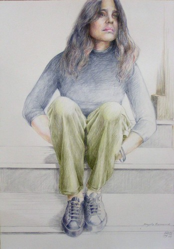 "<div class='artwork-listing'><span class='artwork-listing-artist'><a href=""/users/harald-winter"" class=""active"">Harald Winter</a></span>, <span class='artwork-listing-title'><a href=""/portfolio/7086/angela"">Angela</a></span>, <span class='artwork-listing-materials'>drawing on handmade paper</span>, <span class='artwork-listing-dimensions'>76cm/53cm</span></div>"