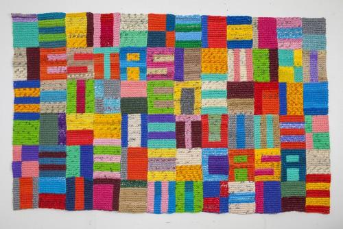 "<div class='artwork-listing'><span class='artwork-listing-artist'><a href=""/users/antonia-perez"" class=""active"">Antonia A Perez</a></span>, <span class='artwork-listing-title'><a href=""/portfolio/7353/estas-en-tu-casa"">Estas En tu Casa</a></span>, <span class='artwork-listing-year'>2015</span>, <span class='artwork-listing-materials'>crochted plastic bags</span>, <span class='artwork-listing-dimensions'>68"" x 108""</span></div>"