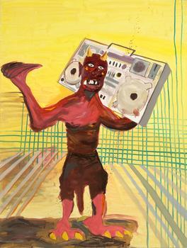 "<div class='artwork-listing'><span class='artwork-listing-artist'><a href=""/users/nathan-gwynne"">Nathan Gwynne</a></span>, <span class='artwork-listing-title'><a href=""/portfolio/76/demonblaster"">DemonBlaster</a></span>, <span class='artwork-listing-year'>2008</span>, <span class='artwork-listing-materials'>Oil on panel</span>, <span class='artwork-listing-dimensions'>48 x 36 inches</span></div>"