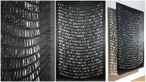 """<div class='artwork-listing'><span class='artwork-listing-artist'><a href=""""/users/nicholas-fraser"""" class=""""active"""">Nicholas Fraser</a></span>, <span class='artwork-listing-title'><a href=""""/portfolio/801/apr-3-2013-ag-left-hanging-series"""">APR 3, 2013 AG, from Left Hanging Series</a></span>, <span class='artwork-listing-year'>2016</span>, <span class='artwork-listing-materials'> hand-cut black tyvek</span>, <span class='artwork-listing-dimensions'>42"""" x 68""""</span></div>"""