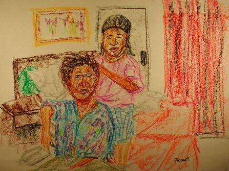 "<div class='artwork-listing'><span class='artwork-listing-artist'><a href=""/users/jack-reacher"" class=""active"">Jack Reacher</a></span>, <span class='artwork-listing-title'><a href=""/portfolio/8395/untitled-1"">Doing Hair</a></span>, <span class='artwork-listing-year'>2005</span>, <span class='artwork-listing-materials'>Pastel on Paper</span></div>"